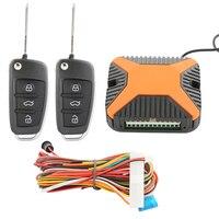 Auto car keyless nhập 2 key Bỏ Túi Nhỏ Gọn với tùy chỉnh lật key blade blade remote khóa cửa trung tâm, phát hành thân từ xa