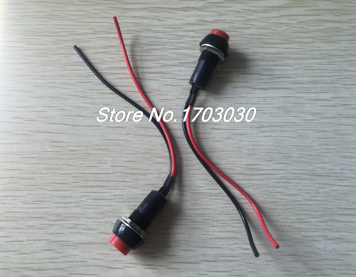 20pcs 12v Momentary Red Round Boat Rocker Switch W Wires Spst A801 Further On Desk Push L Wiring