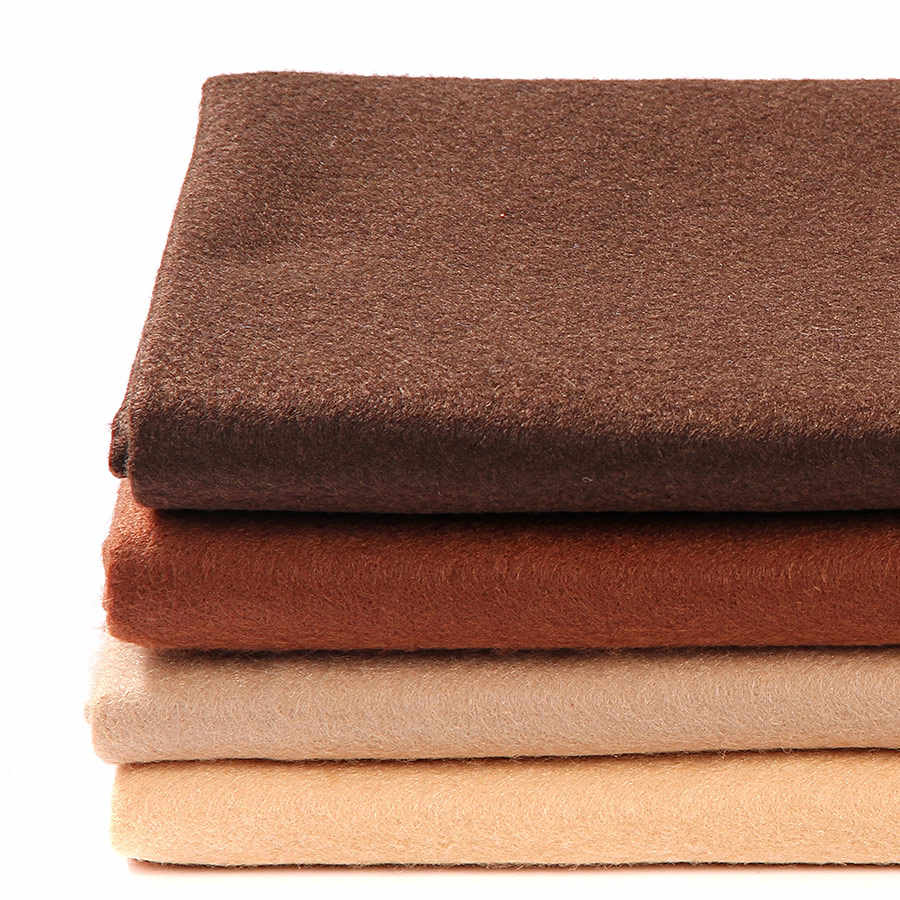 90X92CM Brown Series 1.4MM Soft Felt Fabric Sheet DIY Pure Khaki Non-woven Cloth For Home Decoration Handmade Sewing Crafts