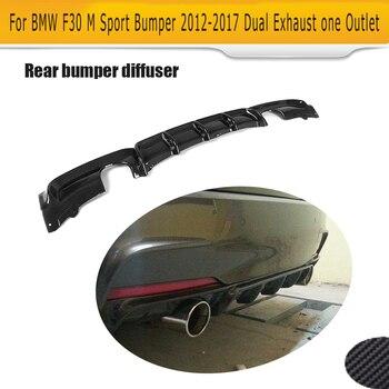 Voor F30 M Tech Carbon Fiber Car Rear Bumper Lip Spoiler Diffuser Voor Bmw 3 Serie M Sport Bumper 12 -17 320i 325i 328i 330i 335i