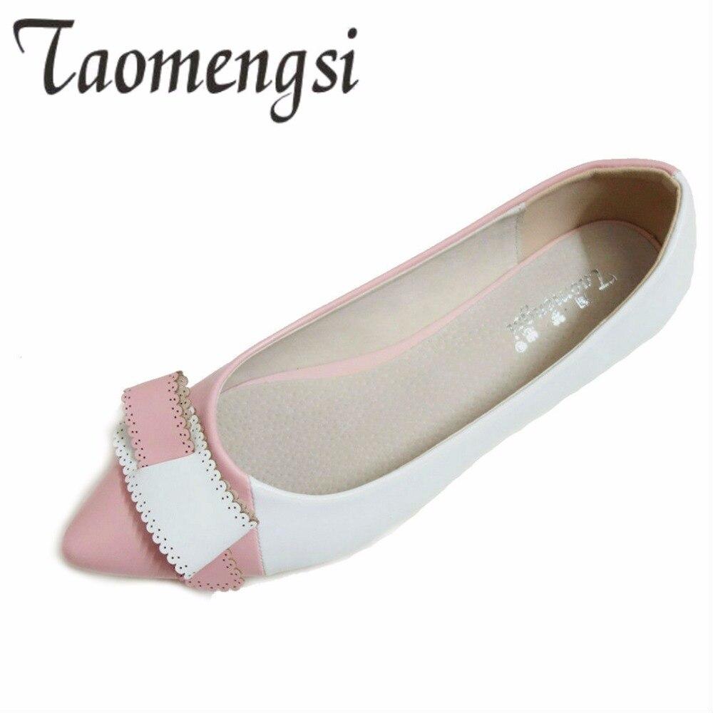 Estaciones Mujer Punta Las 2019 Para Zapatos Señoras 3 Carrera Pu Mujeres beige Otoño Todas pink Oficina Dulce Planos De Colores Black B5xnzBwq1