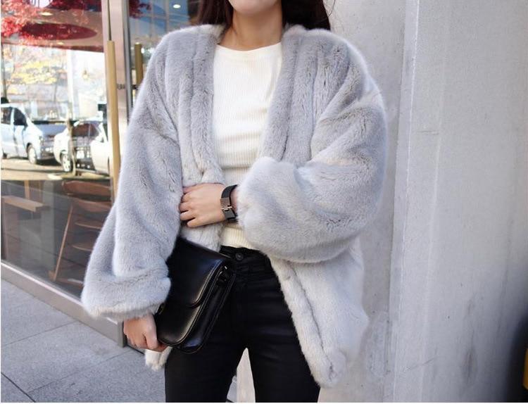 Décontracté femmes manteaux hiver automne doux chaud fausse fourrure Cardigan vestes à manches longues grande taille Xxxl 4xl lâche Ovwecoat Manteau Femme