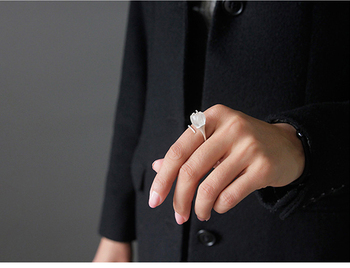 Natural Crystal Handmade Fine Flower Ring7