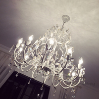 Tree Branch Lights Nordic Country Iron Crystal Chandeliers Modern LED Bedroom Light Chandelier Crystal Lamp Living