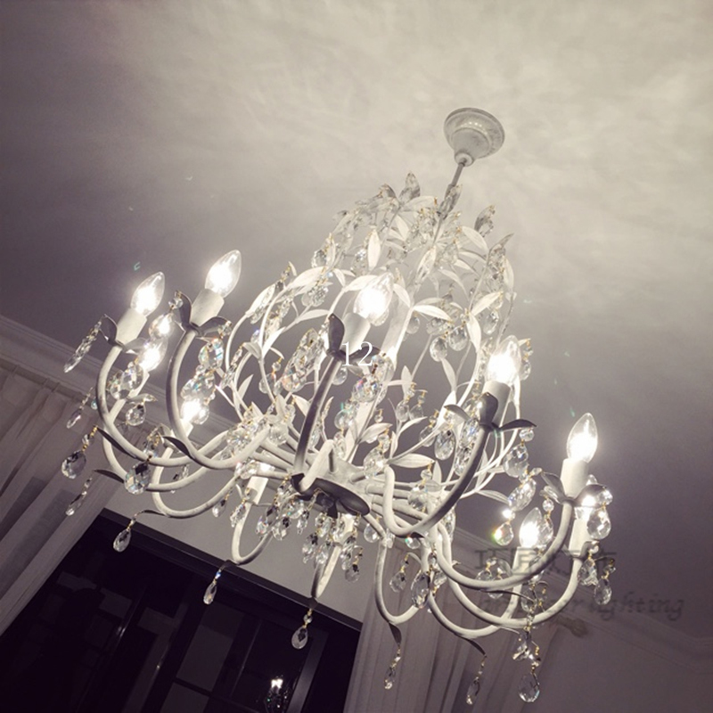 Ast Lichter Nordic Land Eisen Kristall Kronleuchter Moderne LED Schlafzimmer Licht Lampe Wohnzimmer