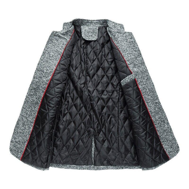 5xl Épaissir marine Soirée Hiver D'affaires Veste Mode De Manteau Noir Blazer Manteaux gris Bleu bourgogne Robe Grande Costume Décontracté Chic Coton Chaud Hommes Taille OXv1qwf