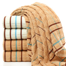 hot deal buy 33x73cm stripe pattern cotton bath towel sets embroidered beach towels for adults luxury brand high quality soft face towels
