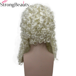 Image 3 - StrongBeauty Synthetic Judge Wig Nobleman Curly Hair Historical Blonde Gray Black Wigs