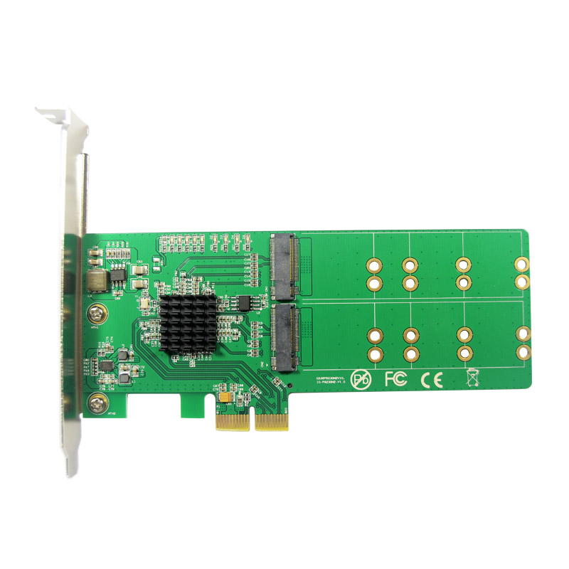 PCI Express to 4 x NGFF M.2 Key-B Expansion Card Adapter Support NCQ 6Gbps Speed Penalty Felt Thread Marvel