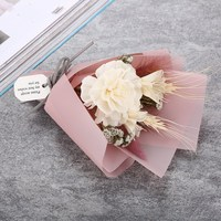 Wheat and natural dry flower bouquet valentine's day gift bouquet gift box wholesale Free Shipping