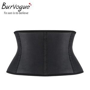 Image 5 - Burvogue Plus Size Latex Waist Trainer Bustiers & Corsets 9 Steel Bone Underbust Waist Control Corset Sexy Shaper Corselet 6XL