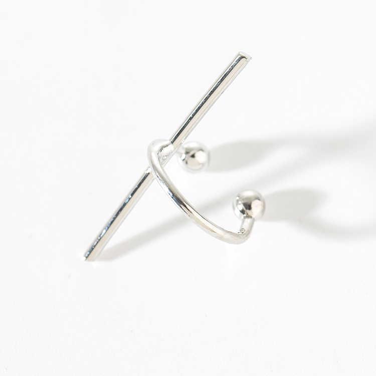 2018 nowy 1 sztuka fajne moda prostota zaprojektowane z miedzi drążek metalowy ucha małżowiny usznej nie-piercing kolczyki do uszu kolczyki brinco de meninas