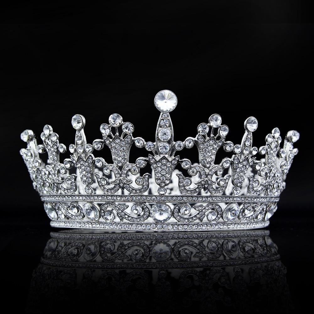 Bridal/ Wedding/ Prom Rhodium Plated Clear Crystal Two Row Wavy Tiara Headband Fashion Jewelry
