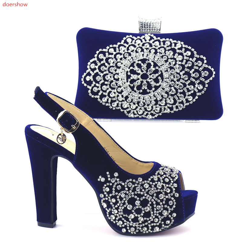 doershow2018 Italian shoes with matching bag shining in wedding black shoes with matching bags women shoes and bag set  HQQ1-8 italian visual phrase book
