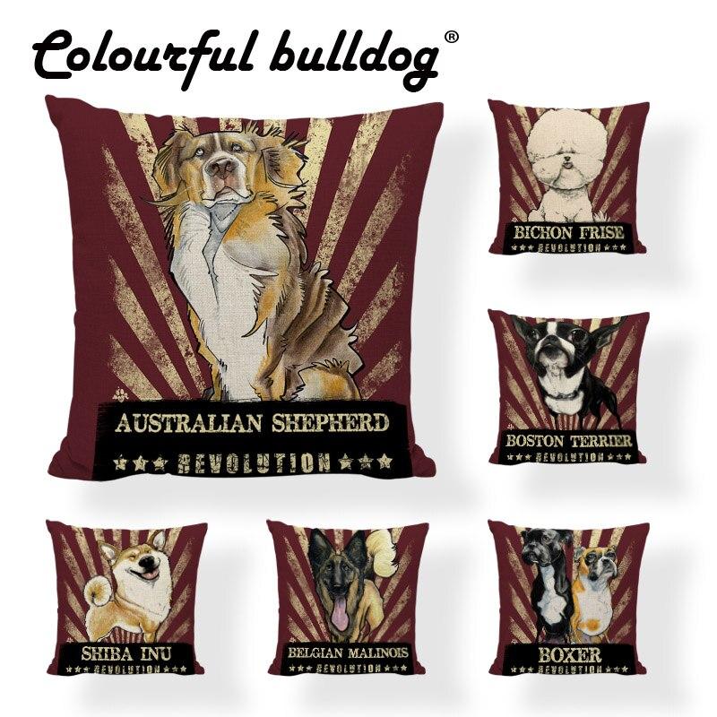 Galleria fotografica Adorabile Cartone Animato Cane Cuscini Animale Dalmati Bulldog Francese Corgi Stampato Home Decor Cuscini Sedia di Gioco di Compleanno Per Bambini