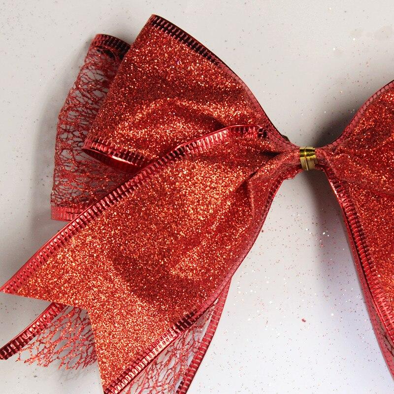 Uus odav lint vibu punane jõulud lint vibu jõulupuu teenetemärgi - Pühad ja peod - Foto 3