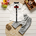 Children baby boys summer clothing sets cotton kids solid clothes child short sleeve tops t shirt
