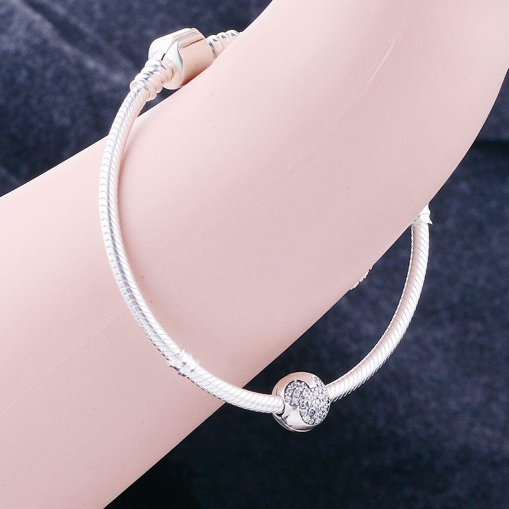 Подходят браслет подвес Пандора S925 стерлингового серебра Микки клип Европейские Бусины-шармы DIY Для женщин для украшения подарка