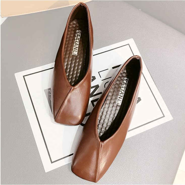 3769067b0a0 Detail Feedback Questions about Women Square Toe Flats Soft Leather Ballet  Flats Shoes Slip On Moccasins Casual Shallow Ballerina Single Shoes Summer  Autumn ...