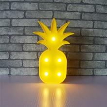 Cute pineapple childrens LED Night Lights kids bedroom Wall Lamp Cartoon Animal Decor fruit shape Lighting christmas Gifts