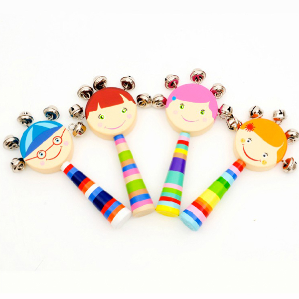 D719 Free shipping selling children's hand bell random send baby toys for 0 and 1 year old baby
