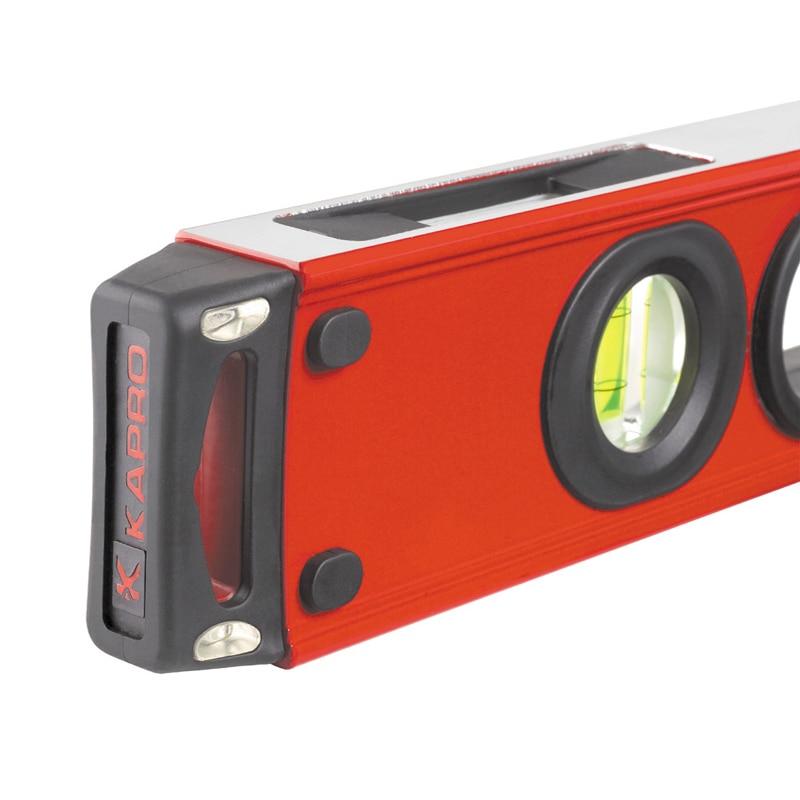 KAPRO Instrument de mesure de niveau en alliage d'aluminium de haute précision 60/80 CM avec bulles à bulle verticales horizontales - 3