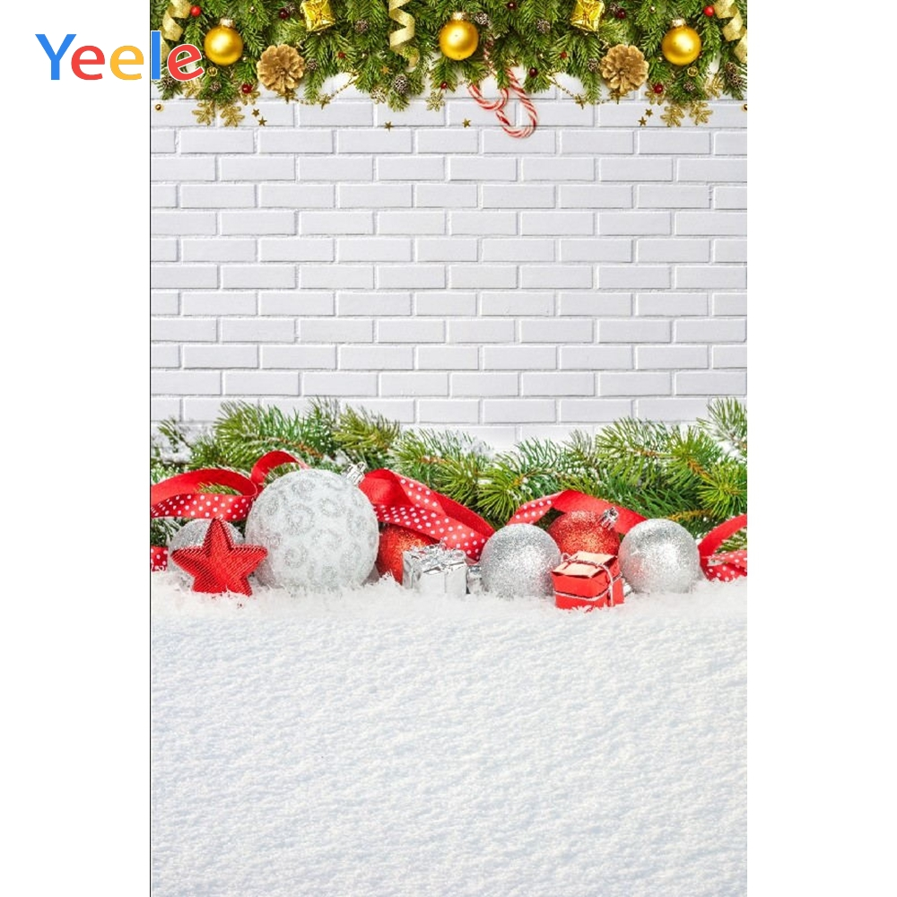 Yeele White Brick Wall Photographic Backgrounds Baby Portrait Christmas Winter Snow Photography Backdrops For The Photo Studio in Background from Consumer Electronics
