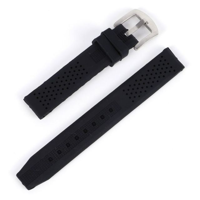 16-24mm Watch Bands Breathable Silicone Strap Rubber Buckle Watchbands Sport Wri