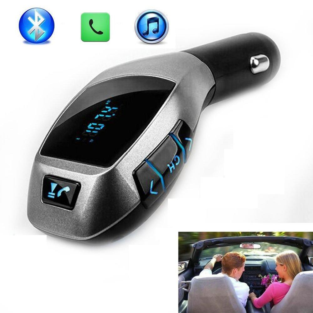 FM Transmitter Car Kit MP3 Player with USB For Charging Wireless Bluetooth Handsfree calling Wireless transmit phone call