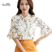 Blusas Summer Tops Plus Size Women Clothing 2017 New Style Batwing Sleeve Women Blouses Floral Print