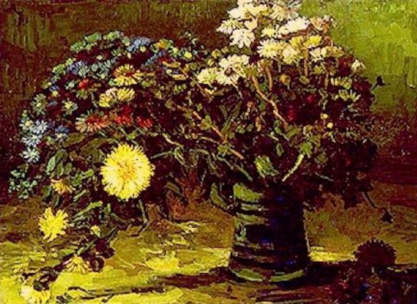 Ordinary Flowers Art Painting Vase With Daisies By Van Gogh