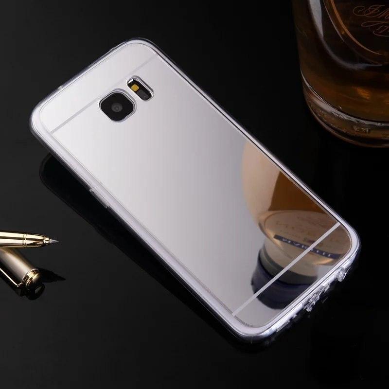 Чехол для Samsung Galaxy C7/C9/C9 Pro Роскошные ультра тонкий прозрачный зеркало TPU + PC акрил мягкие прозрачная задняя крышка принципиально kimthmall