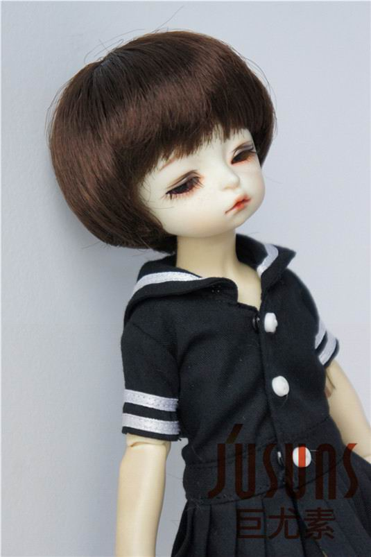 JD350 16-18 см 1/6 химическое волокно парики для кукол 6-7 дюймов Короткие мотоботы с покрой BJD парик