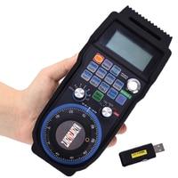 1pc New Wireless Mach3 MPG Pendant Handwheel for CNC Mac.Mach 3, 6 axis USB handheld unit Industrial remote control