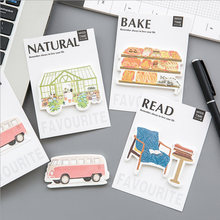 Vintage life items Creative paste memo pad planner sticky note paper sticker kawaii stationery pepalaria office(China)