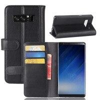 CYBORIS Für Samsung Galaxy Note 8 Fall Echtem Echtem Rindsleder Ledertasche für Note 8 Flip-Cover Wallet slot
