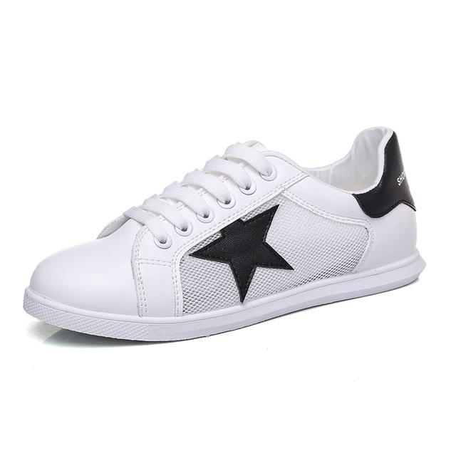 Mulheres Respirável Sapatos de Verão Sapatos Casuais Net oco Decorativo Branco Estudante Modas Impede de Correr