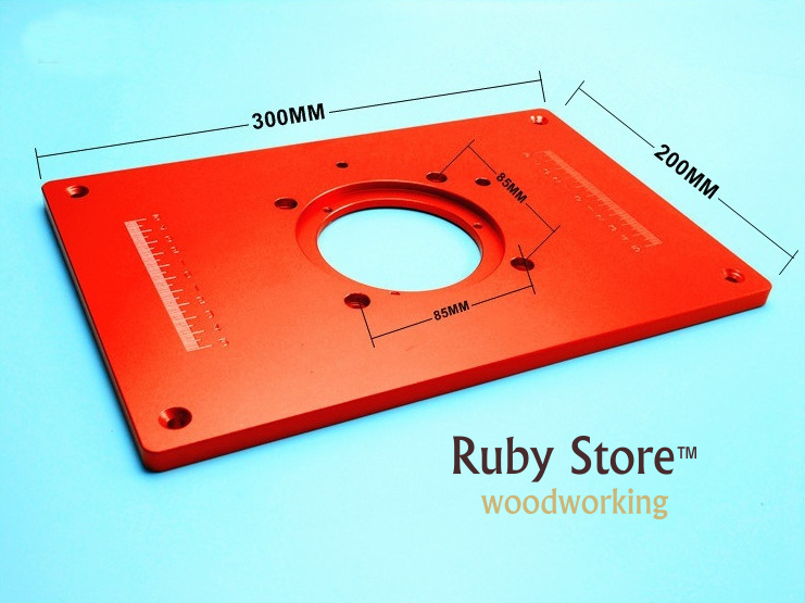 Купить с кэшбэком Aluminum Router Insert Plate for Routers (Red Series) 200mm x 300mm x 10mm