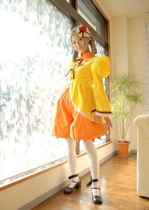 Anime Rozen Maiden Cosplay Rozen Maiden Cosplay Kanaria dress costume Women's Party Costume for Halloween
