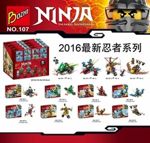 Bozhi 107 Ninja Collection Fit To Battle Limited Edition Minifigures Building Block Minifigure Toys Compatible with Legoe