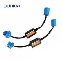 2pcs Car LED Headlight Fog Lamp Bulb 9004 9007 Error Free Warning Canceller Capacitor Load Resistor