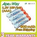 Apexway Baja autodescarga 10 unids/lote baterías enelong AAA 900 mAh 1.2 V Ni-MH batería recargable