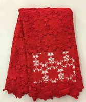 African Guipure Lace Fabric For Christmas Clothing Latest PureColor Heavy Water SolubleLace Fabric with