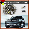 Coche LED Kit Paquete Interior Dome Mapa bombilla No Error Bombillas Guantera de Luces de la Matrícula Blanco Fit ML W163 ML350 2000-2005