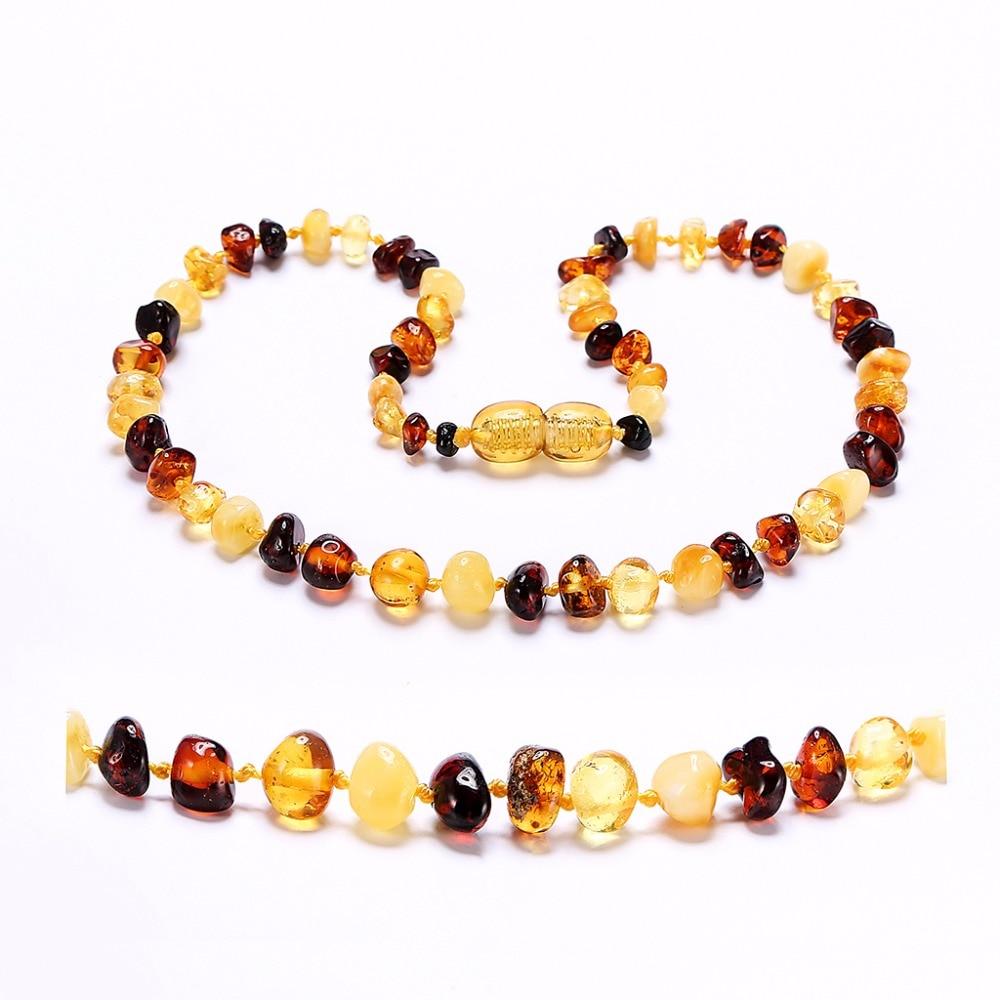 Baltic Amber Teething Necklace (Multicolor) - Håndlavet i Litauen - - Smykker - Foto 2