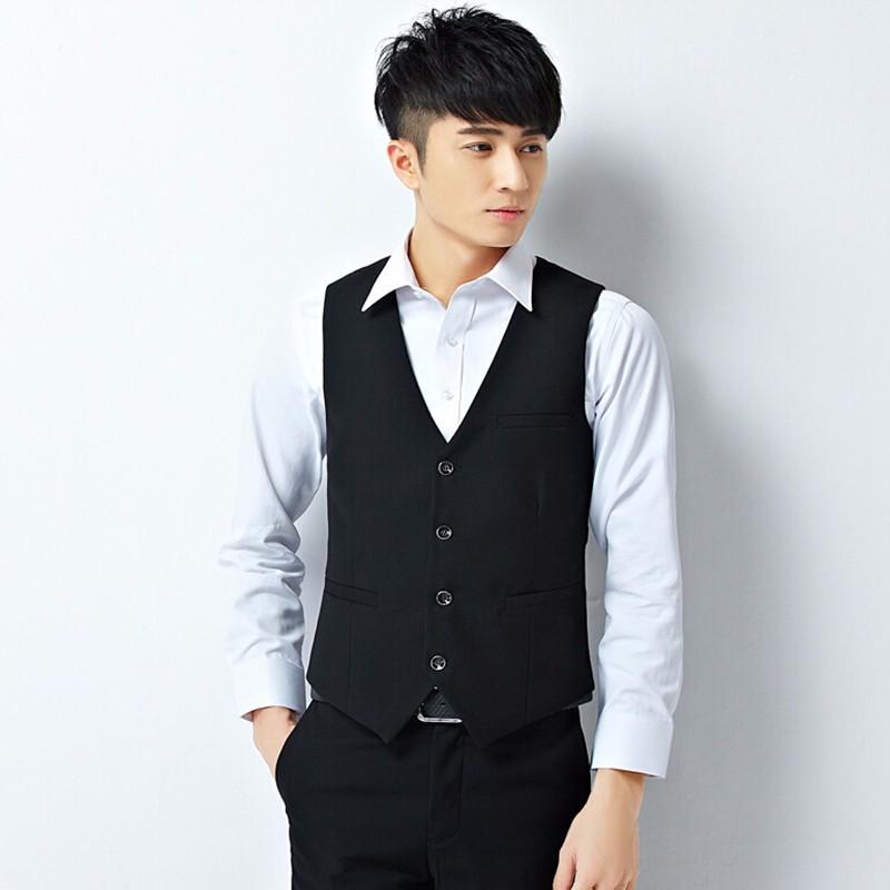 11.1Men vest custom made men wedding suits waistcoat latest design solid color groom best man formal dress vest