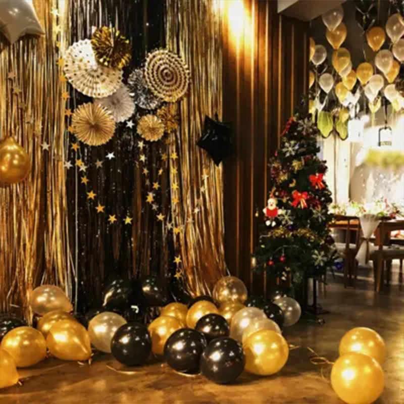 30 ピース/ロット 12 インチパールゴールドシルバー黒ラテックスバルーンバースデーウェディングパーティーの装飾エアヘリウム膨張可能なギフト用品
