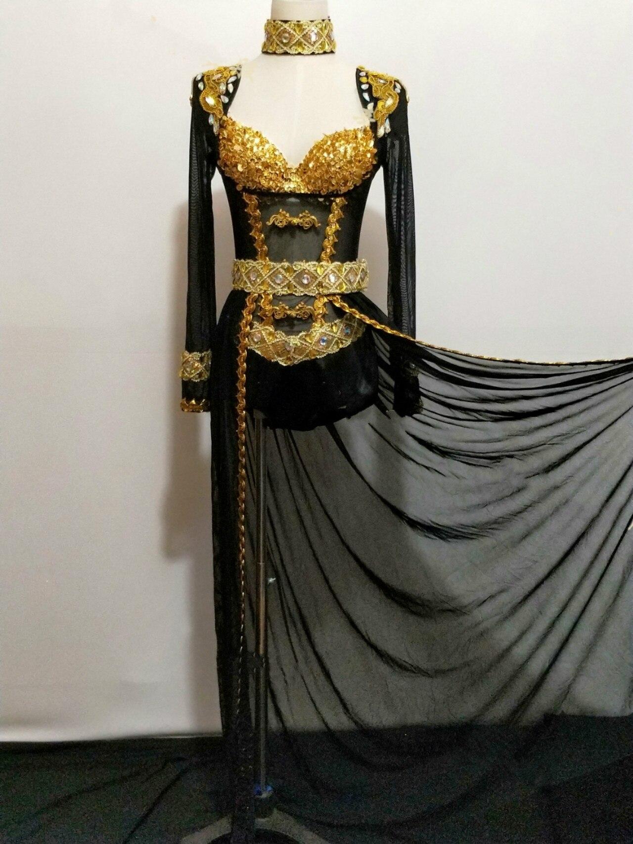 Для женщин блестят стразы черный костюм боди блестящими кристаллами кисточкой Stertch купальник певица Dj наряд вечерние праздновать