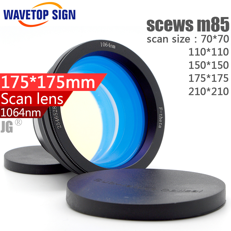 F-theta lens 1064nm scan lens yag laser scan lens fiber laser scan lens size: 70*70 110*110 150*150 175*175 210*210mm laser welding cutting engraving machine laser protection lens 1064nm yag 39 1 5