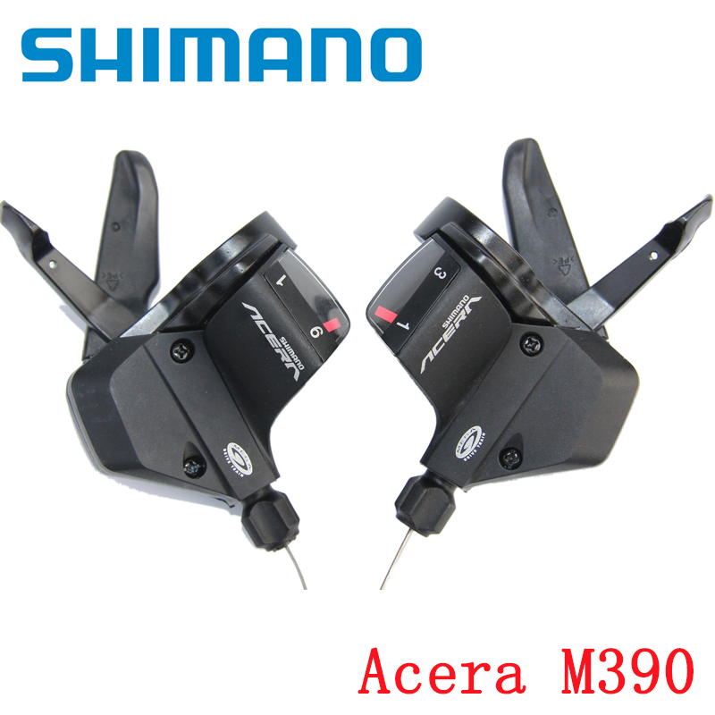 SHIMANO ACERA SL M390 Thumb Shifter Left Right MTB Mountain Bike Derailleurs 3 x 9s 27 Speed Mountain bike Bicycle Transmission принтер hp laserjet enterprise 700 m712dn a3 cf236a